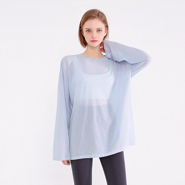 Casual Oversized See-through Tee