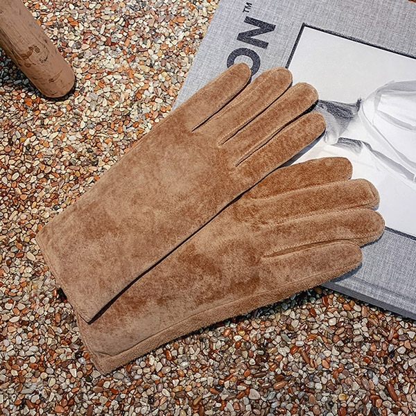 Soft Lining Suede Smart Touch Gloves