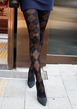 Argyle Patterned Stockings