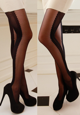 Lattice Paneled Stockings