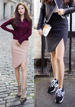 Tulip Slit Skirt