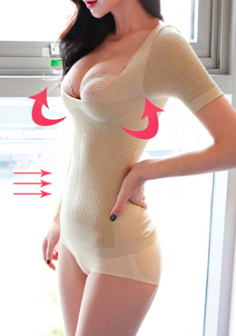 Sleeved Underbust Shapewear Top