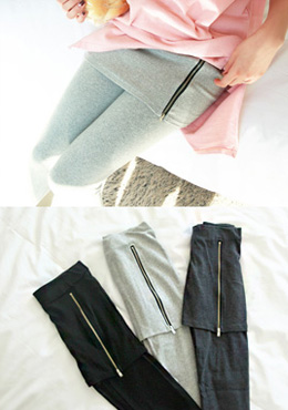 Zipper Skirt Leggings