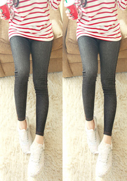 Contrast Stitched Hem Jeggings