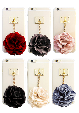 Chained Flower Charm Phone Case