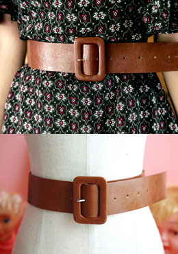 Box Frame Buckle Wide Belt