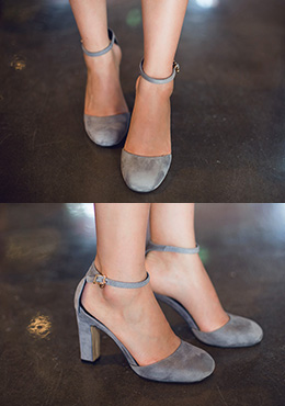 Open Sides Ankle Strap Pumps
