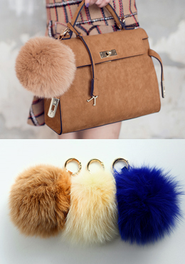 Fur Ball Key Ring
