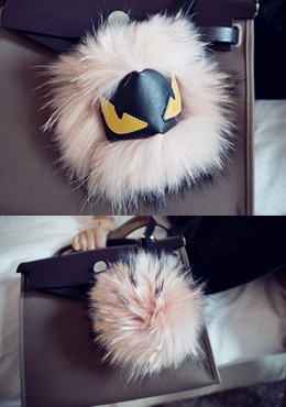Eye Fur Ball Bag Accessory