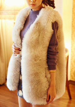 Redness song fur vest