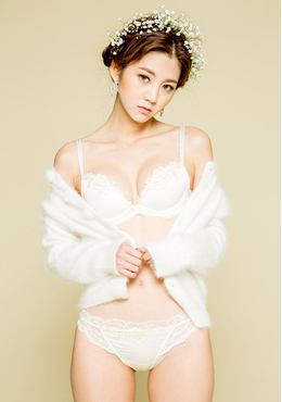 Flower shadow story bra+pantie set