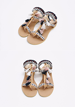 Ethnic Tasseled Sandals