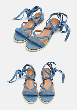 Denim Crush Lace Up Sandal
