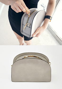Zip Top Half Moon Bag