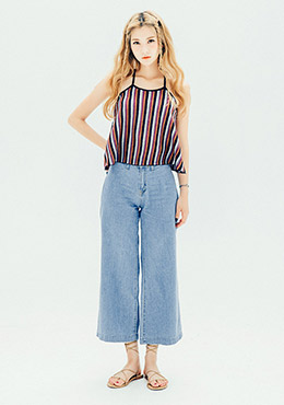 Cool Wide Denim Pants