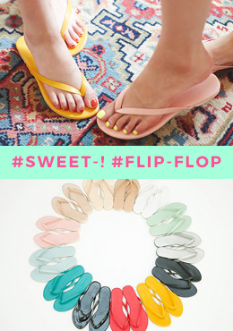 Colorful Basic Flip Flop