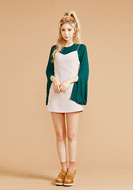 Singlet Wide V-neck Dress
