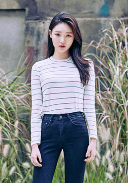 Daily Long Sleeve Stripe Knit