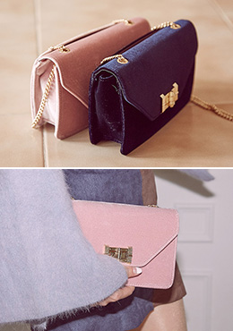 Buckle and Chain Bag