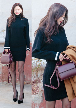 Pola Sweater Bodycon Dress