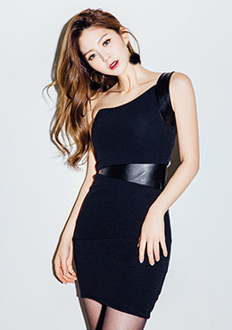 Can't Forget Me One Shoulder Free Party Dress