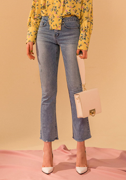 Last Song Cropped Boot Cut Jeans