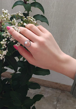 [CHU] Mini Pearl Simple Ring