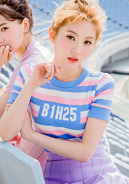 Candy Stripes Cropped Tee