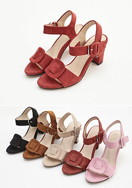 [CHU] Simple Strap Color Heels