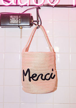 Merci Embroidered Bag