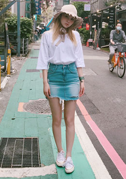 Struck By Star Denim Skirt