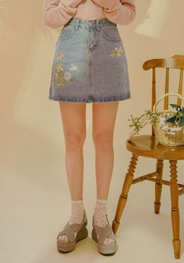 Without Hesitation Denim Skirt
