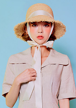 So Shy Raffia Hat