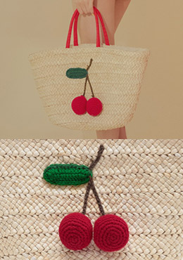 [CHU] Cherry Raffia Bag