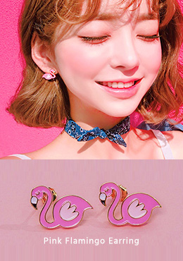 [CHU] My Ear's Flamingo Earrings