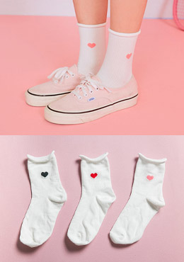 [CHU] Heart Pointed Cute  Socks