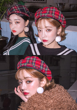 Ready For Christmas Check Beret