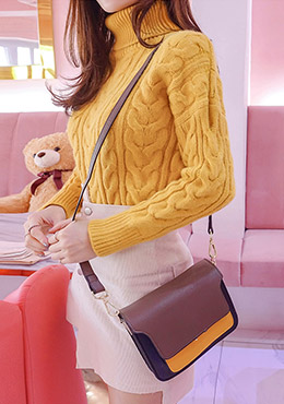 Color Strips Small Shoulder Bag