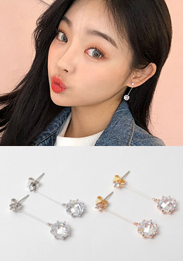 Key Lock Crystal Earring