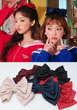 [CHUU] Lovey Dovey Ribbon Hairpin