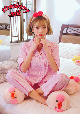 Strawberry Milk Sweet Dream Pajama Set