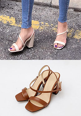 Far Away Strap Block Heel