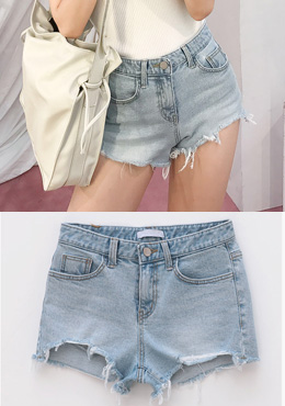 A Lot Of Tension Denim Shorts