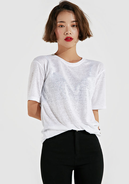 [ADAN] Basic Crew Neck Tee