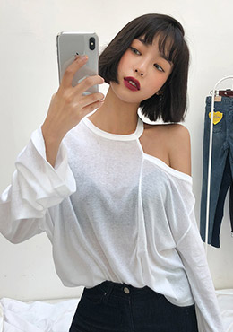 Unbalanced Style Loose Fit Tee