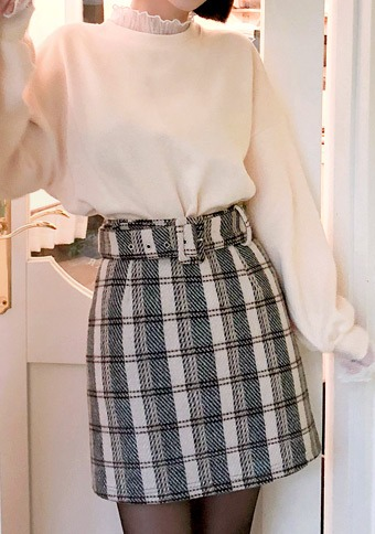 Tempo Belt Set Check Skirt