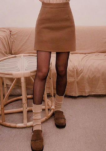 Warm Winter Basic Mini Skirt