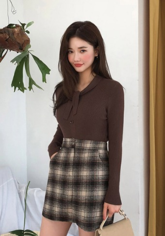 Ace Checkered Mini Skirt