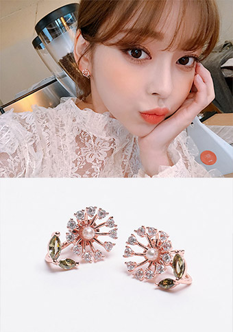 Shining Flowers Earring