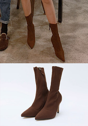 Stiletto Corduroy Socks Boot